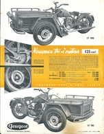 Prospectus Triporteur Peugeot 1957 57 TNO 57 TNC - Advertising