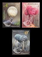 Belarus 2020 Mih. 1335/37 Flora. Mushrooms. Myxomycetes MNH ** - Belarus