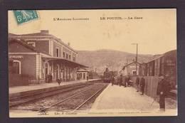 CPA Ardèche 07 Le Pouzin Gare Chemin De Fer Train Circulé - Le Pouzin