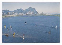 Brésil Brasil N°350 257 Rio De Janeiro Vue Aérienne Nautical Sports Of Barra Da Tijuca En 1983 - Rio De Janeiro