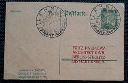 DR 1926, Postkarte Sonderstempel LEHNIN Kloster - Germania