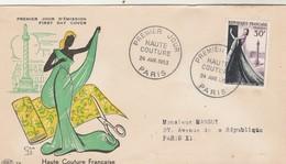 FDC Yvert 941 Haute Couture  Paris 24/4/1953 - Mode - FDC