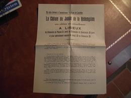 LISIEUX,  Cloture Du Jubilé De La Rédemption, 28 Avril 1935, Programme - Religion & Esotérisme