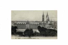 Dept 14 Caen Le Lycée Et L'église Saint Etienne - Caen