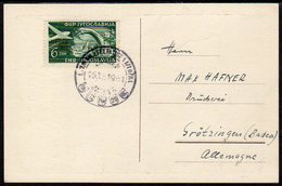 YUGOSLAVIA 1951 Croatian Philatelic Society Exhibition Postcard With ZEFIZ Overprint Cancelled With Firs.  Michel 653 - Covers & Documents