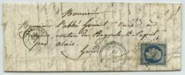 TàD Langogne + Type 22 Grandrieu (Lozère) + PC 1438 / LàC 1855 Pour Tresques . Botanique . - 1849-1876: Classic Period