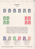 = 6 Valeurs Sabine 79 Collection Historique De France Paris 1.X.79 N°2056 2057 2058 2059 2060 2061 - Documents Of Postal Services
