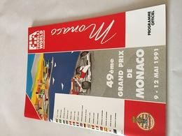 Programme OFFICIEL Du 49e Grand Prix De MONACO De F1 1991 - Automobile - F1
