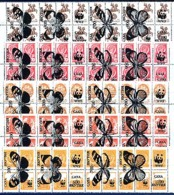 RUSSIE IAKOUTIE, Emission Locale / Local Issue, 5 Bandes Surcharges / Overprinted Papillons Sur URSS / Russia.  R086 - Errors & Oddities