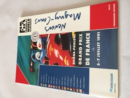 Programme OFFICIEL Du Grand Prix De FRANCE De F1 1991 - Automobile - F1