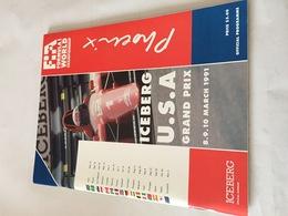 Programme OFFICIEL Du Grand Prix Des USA De F1 1991 Avec 11 AUTOGRAPHES - Automobile - F1