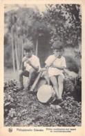 Asia Asie - PHILIPPINES Filippijnen - PHILIPPIJNSCHE Kleine Muzikanien Met Mond En Neusinstrumenten - CPA Filipinas - Philippines
