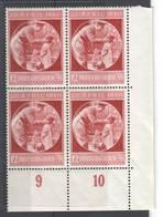 Drittes Reich , Nr 744 Postfrischer Viererblock - Ungebraucht