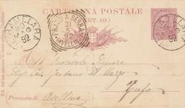 Pietramelara. 1892. Annullo Grande Cerchio PIETRAMELARA, Su Cartolina Postale - 1878-00 Umberto I