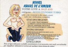 CPM Humour Nouvel Argus De L'amour Cote à 18-25 Ans Petite Cylindrée Turbo - Humor