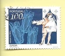 TIMBRES - STAMPS - FRANCOBOLLI - SELLOS - PORTUGAL - 1994 - EUROPE - PORTUGAL. - TIMBRE DE BLOC OBLITÉRÉ - Histoire