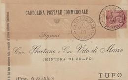 Pietravairano. 19002. Annullo Grande Cerchio PIETRAVAIRANO (CASERTA), Su Cartolina Postale - 1878-00 Umberto I