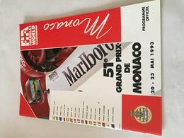 Programme OFFICIEL Du 51e Grand Prix De MONACO De F1 1993 - Automobile - F1