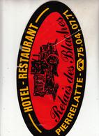 Autocollant    HOTEL - RESTAURANT  - PIERRELATTE - Stickers