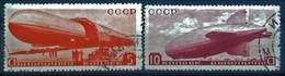 RUSSIE - RUSSIA POSTE AERIENNE N° 33 + N° 34 COTE 18 € OBLITERES TYPE DIRIGEABLES. TB - Gebruikt
