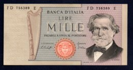 Banconota Italia - Lire 1000 G. Verdi 1979 - [ 2] 1946-… : Repubblica