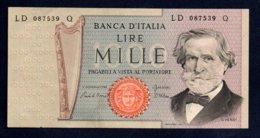 Banconota Italia - Lire 1000 G. Verdi 1981 - [ 2] 1946-… : Repubblica
