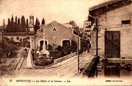 LIBAN - BEYROUTH - Les Halles Et La Colonne LEGER PLI COIN  /LOT 4034 - Libanon