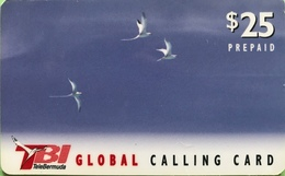 BERMUDES  -  Prepaid  -  TBI - Bird  -  $ 25 - Bermudes