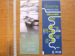 Lot De 2 Signet Marque Page Pages ENS éditions Librairie Genre - Autres