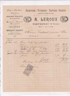79-A.Leroux...Peinture-Vitrerie-Papiers Peints....Parthenay..(Deux-Sèvres)..1898 - Old Professions