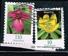Bund 2018/9,Michel# 3430, 3489 O Blumen: Winterling, Wild-Gladiole, Selbstklebend - Gebraucht