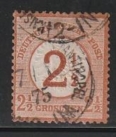 ALLEMAGNE - EMPIRE - N°28 Obl (1874) Surchargés - Used Stamps