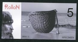 """WW2 Billet Fantaisie Normandie - Edition Privé 2019 """"Spécimen 5 Rollon / 75e Anniversaire Du Débarquement"""" WWII - Fictifs & Spécimens"""