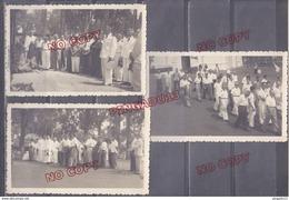 Au Plus Rapide Indochine Saïgon 1956 Cimetière Massiges Obsèques Joseph Filippi Corse Ensemble 3 Carte Photo - Krieg, Militär