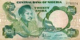 NIGERIA 20 NAIRA 1984   P-26d  CIRC. - Nigeria