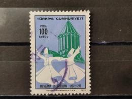 1973, TURCHIA, 700° Anniversario Della Morte Di Mevlana Celaleddin - Gebruikt