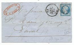 - SEINE - PARIS - Oblitération Cercle De Points S/TPND N°14 + Càd Type 3308 - 1862 - 1853-1860 Napoleon III