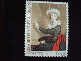TIMBRE FRANCE - ANNEE 2002 - N° 3526 - Elisabeth Vigée-Lebrun (1755-1842)  - Oblitéré - Arts