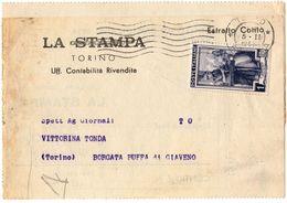 Estratto Conto Stampa Dest. Borgata Buffa Di Giaveno( 227 ) - 6. 1946-.. Repubblica