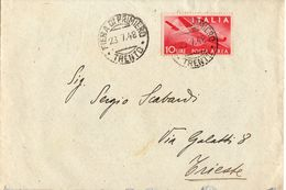 Busta Con Lettera Contenuta Aff. L 10 Posta Aerea( 227 ) - 6. 1946-.. Repubblica