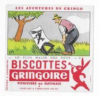 2  BUVARDS      BISCOTTES    GREGOIRE    PITHIVIERS   EN GATINAIS     16  X  15,5   VOIR SCAN - Buvards, Protège-cahiers Illustrés