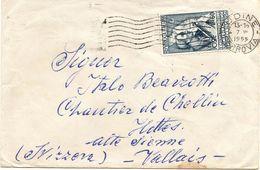 Busta Per Svizzera Con L 60 Vespucci  ( 227 ) - 6. 1946-.. Repubblica
