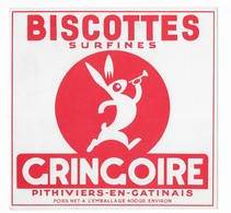 3  BUVARDS      BISCOTTES    GREGOIRE    PITHIVIERS   EN GATINAIS     16  X  15,5   VOIR SCAN - Buvards, Protège-cahiers Illustrés