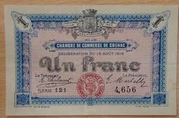 COGNAC ( 16) 1 Franc Chambre De Commerce 19 Août 1916 - Chambre De Commerce