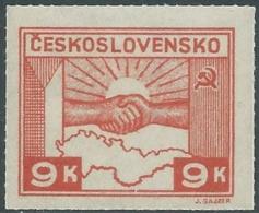 1945 CECOSLOVACCHIA AMICIZIA CON URSS 9 KR MNH ** - RC19-7 - Ungebraucht