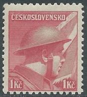 1945 CECOSLOVACCHIA SOLDATI 1 KR MNH ** - RC19-8 - Cecoslovacchia