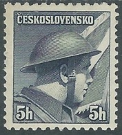 1945 CECOSLOVACCHIA SOLDATI 5 H MH * - RC19-8 - Cecoslovacchia