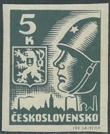 1945 CECOSLOVACCHIA SOLDATO SOVIETICO 5 KR MNH ** - RC19-6 - Cecoslovacchia