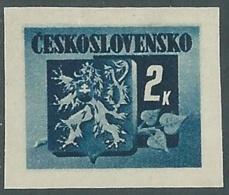 1945 CECOSLOVACCHIA STEMMA E FRONDA DI TIGLIO 2 KR MNH ** - RC19-6 - Cecoslovacchia