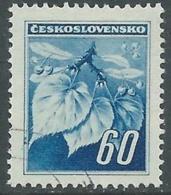 1945 CECOSLOVACCHIA USATO FRONDA DI TIGLIO 60 H - RC22-5 - Usati